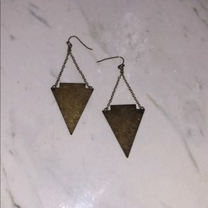 Urban Outfitters Rustic Triangle Earrings